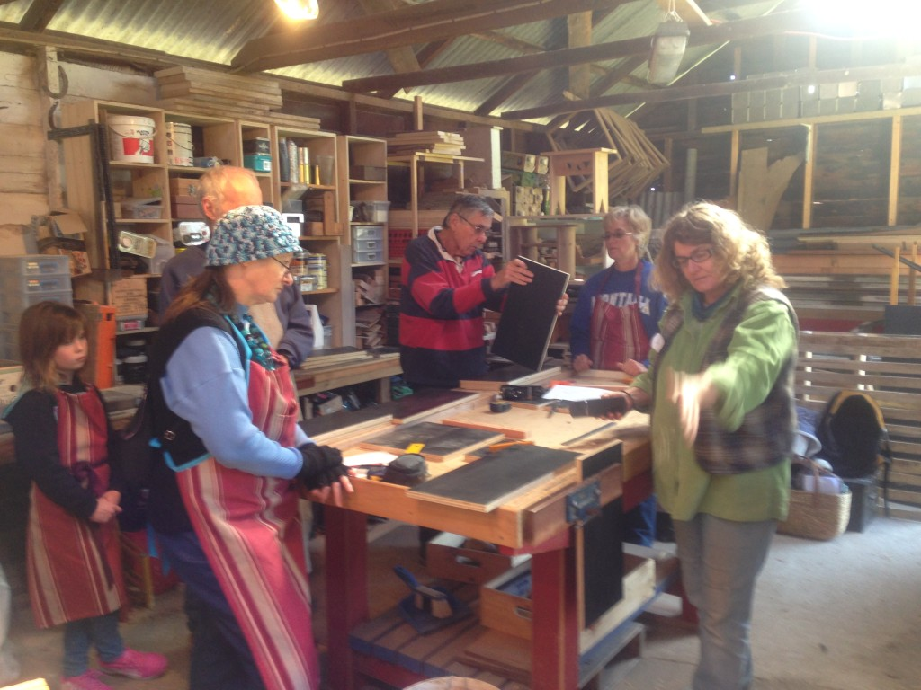 Planing demonstration at Sugar Glider nest box workshop